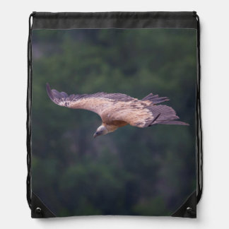 Griffon vulture, France Drawstring Bag