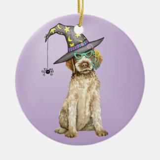 Griffon Witch Ceramic Ornament