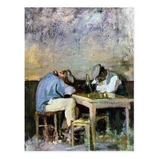 Grigorescu - Two Drunks Postcard