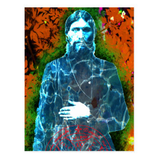 Grigori Rasputin Russian History Mad Monk Mystic Postcard