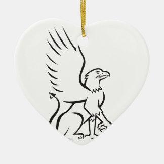 Griiffin Sitting Side Retro Ceramic Heart Decoration