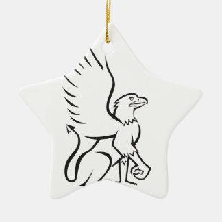 Griiffin Sitting Side Retro Ceramic Star Decoration
