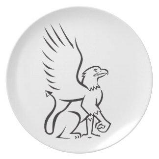 Griiffin Sitting Side Retro Party Plate