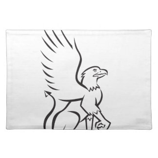 Griiffin Sitting Side Retro Placemat