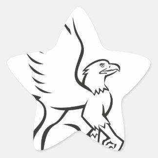 Griiffin Sitting Side Retro Star Sticker