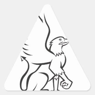 Griiffin Sitting Side Retro Triangle Sticker