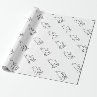 Griiffin Sitting Side Retro Wrapping Paper