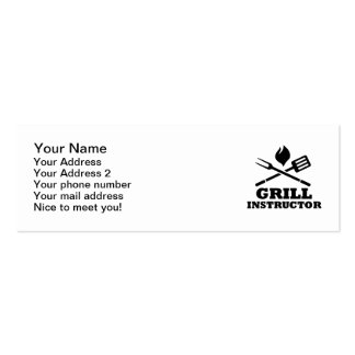 Grill BBQ Instructor Business Card
