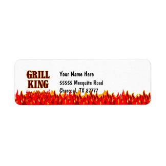 Grill King BBQ Slogan Return Address Labels