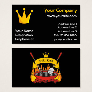 Grill King Business Card