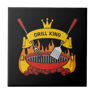 Grill King Ceramic Tile