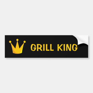 Grill King Crown Bumper Sticker