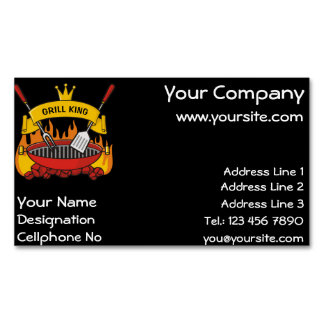 Grill King Magnetic Business Card