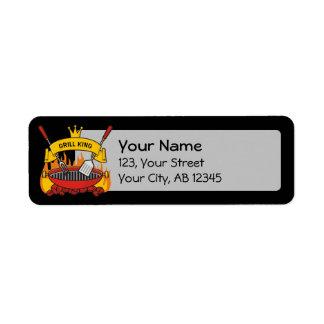 Grill King Return Address Label