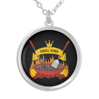 Grill King Silver Plated Necklace