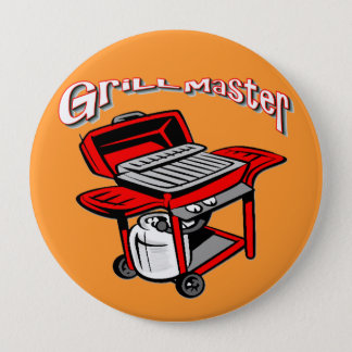 Grill Master 10 Cm Round Badge