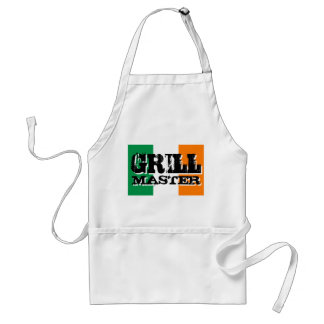 Grill master apron | Irish flag background
