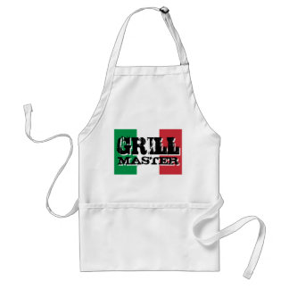 Grill master apron with Italian flag