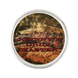 Grill Master Barbecue Personalized Gifts Lapel Pin