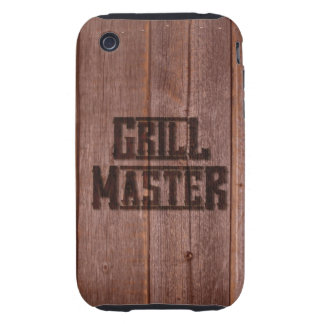 Grill Master Western Branding Iron on Wood iPhone 3 Tough Covers