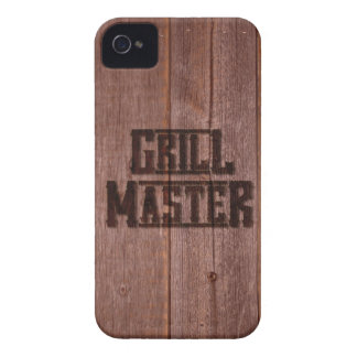 Grill Master Western Branding Iron on Wood iPhone 4 Case-Mate Case