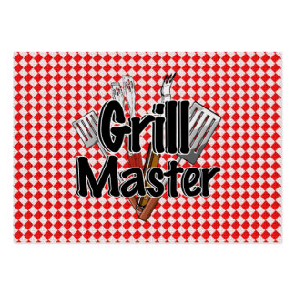 Grill Master with BBQ Tools & Picnic Table Pack Of Chubby Business Cards