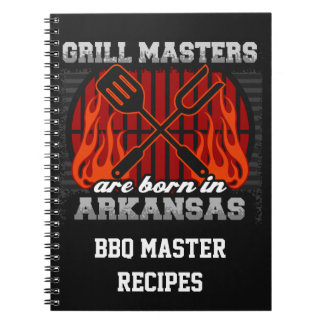Grill Masters Are Born In Arkansas Personalized Notebook