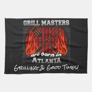 Grill Masters Are Born In Atlanta Add A Slogan Tea Towel