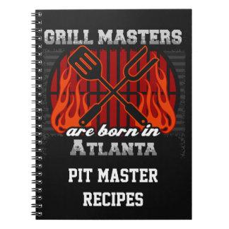 Grill Masters Are Born In Atlanta Personalized Notebook