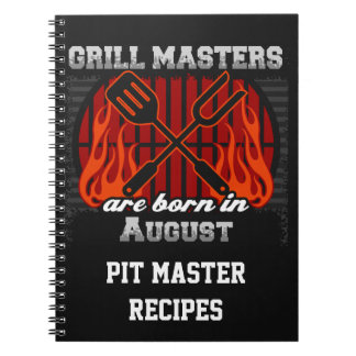 Grill Masters Are Born In August Personalized Notebook
