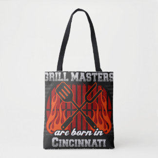 Grill Masters Are Born In Cincinnati Ohio Tote Bag