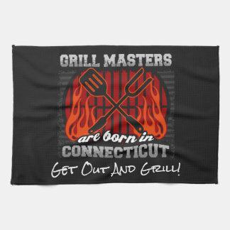 Grill Masters Are Born In Connecticut Add A Slogan Tea Towel