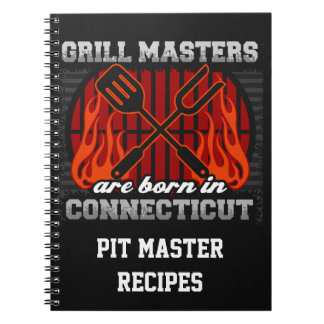 Grill Masters Are Born In Connecticut Personalized Notebook