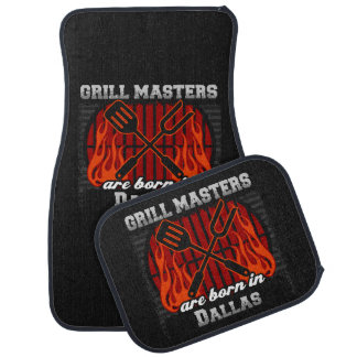 Grill Masters Are Born In Dallas Texas Car Mat
