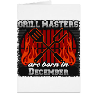 Grill Masters Are Born In December BBQ Birthday Card