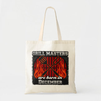 Grill Masters Are Born In December BBQ Birthday Tote Bag