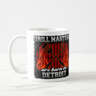 Grill Masters are Born in Detroit Michigan Coffee Mug