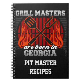 Grill Masters Are Born In Georgia Personalized Notebook