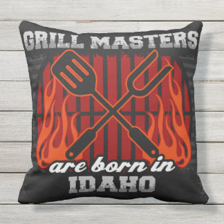 Grill Masters Are Born In Idaho Outdoor Cushion