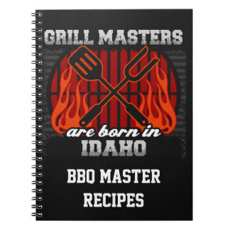 Grill Masters Are Born In Idaho Personalized Notebook