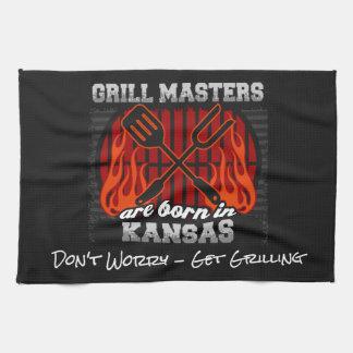 Grill Masters Are Born In Kansas Add A Slogan Tea Towel