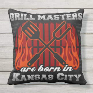 Grill Masters Are Born In Kansas City Cushion