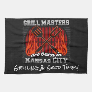 Grill Masters Are Born In Kansas City Missouri Tea Towel