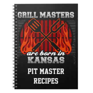 Grill Masters Are Born In Kansas Personalized Notebooks