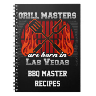 Grill Masters Are Born In Las Vegas Nevada Notebook