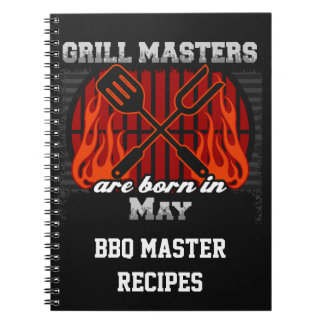 Grill Masters Are Born In May Personalized Notebook