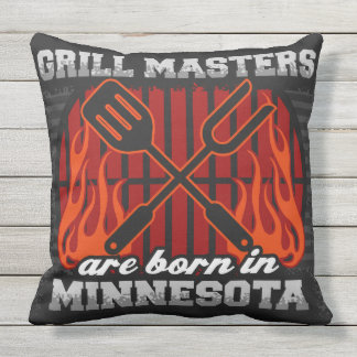 Grill Masters Are Born In Minnesota Outdoor Cushion