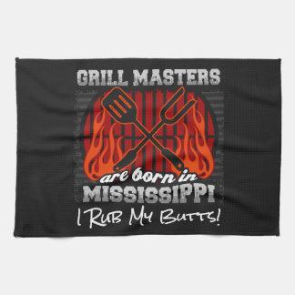 Grill Masters Are Born In Mississippi Add A Slogan Tea Towel
