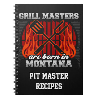 Grill Masters Are Born In Montana Personalized Notebook
