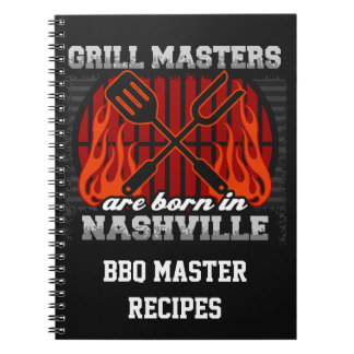 Grill Masters Are Born In Nashville Tennessee Spiral Notebook